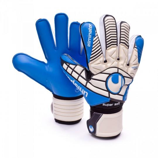 Guante  Uhlsport Eliminator Supersoft White-Black-Energy blue
