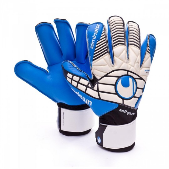Guante  Uhlsport Eliminator Soft RF Comp White-Back-Energy blue