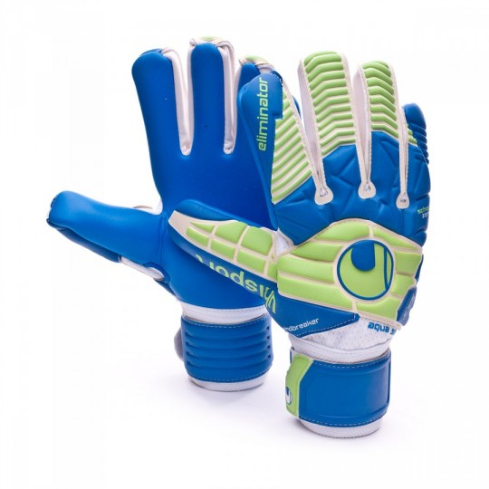 Guante  Uhlsport Eliminator Aquasoft HN WindBreak White-Pacific-Fluor green