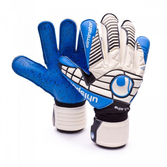 Guante  Uhlsport Eliminator Supergrip 360º Cut White-Black-Energy blue