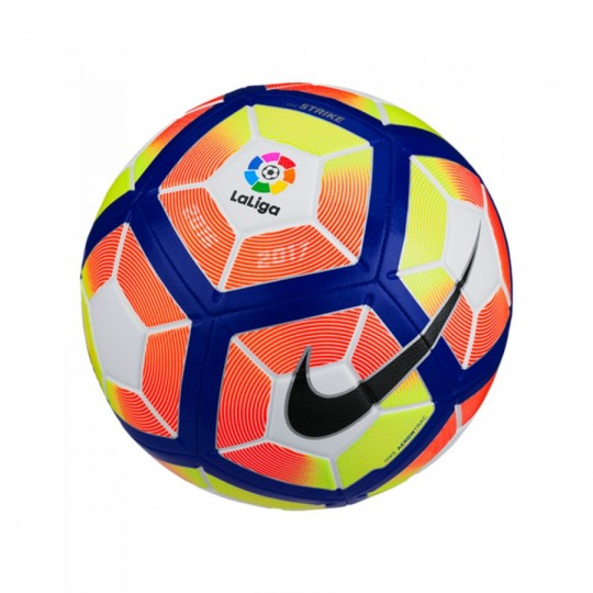 Balón  Nike LaLiga Strike Football 2016-2017 White-Orange-Blue