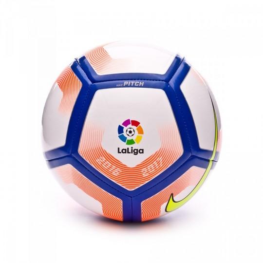 Balón  Nike LaLiga Pitch Football 2016-2017 White-Orange-Blue