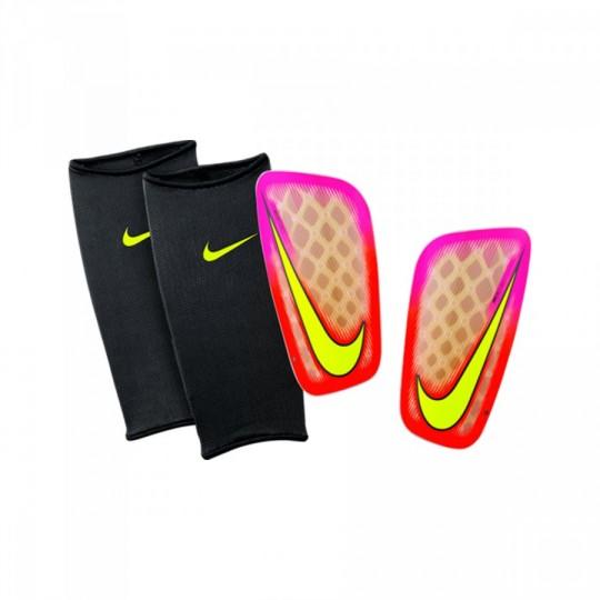 Espinillera  Nike Mercurial Flylite Pink blast-Total crimson-Volt
