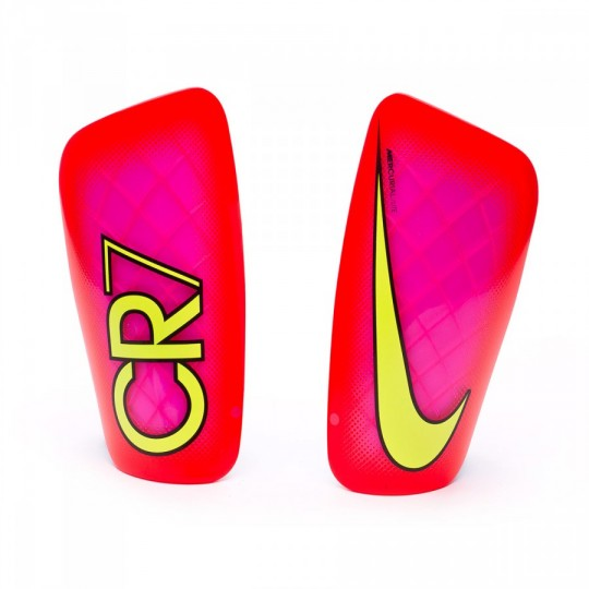 Caneleira  Nike CR7 Mercurial Lite Pink blast-Total crimson-Volt