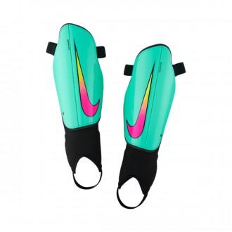 Espinillera  Nike Charge 2.0 Hyper turquoise-Black-Pink blast