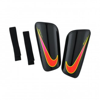 Espinillera  Nike Hard Shell Slip-IN Black-Total crimson-Volt