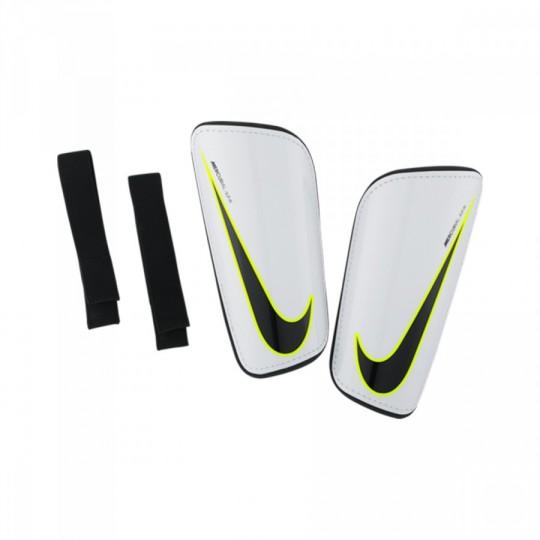 Caneleira  Nike Hard Shell Slip-IN White-Black