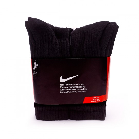 Calcetines  Nike Waffle Cushion Crew Black-White