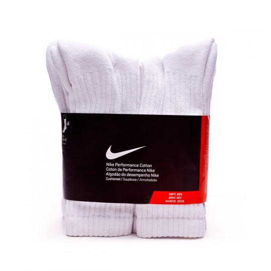 Calcetines  Nike Waffle Cushion Crew (x6) White-Black