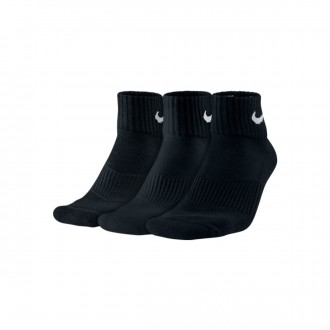 Calcetines  Nike Cotton Cushion Quarter Training Sock (3 Pares) Black-White
