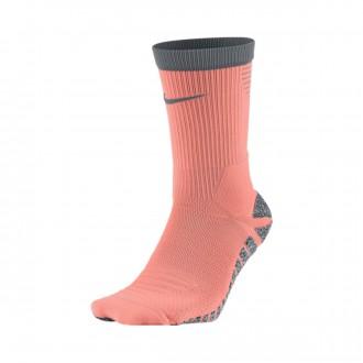 Meias  Nike GRIP Strike Lightweight Crew Atomic pink-Cool grey