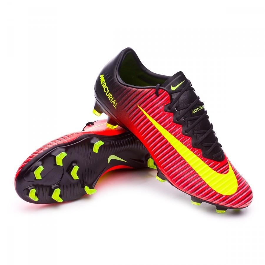 58c697076b Chuteira Nike Mercurial Vapor XI ACC FG Total crimson-Volt-Black-Pink blast  - Loja de futebol Fútbol Emotion