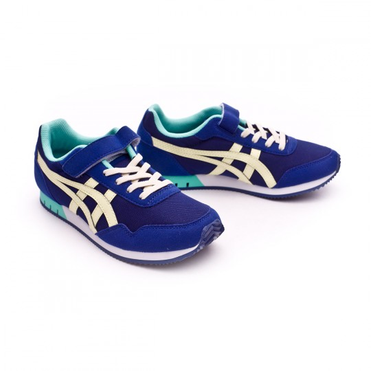 Zapatilla  Asics Curreo PS Niño Blue print-Tender yellow