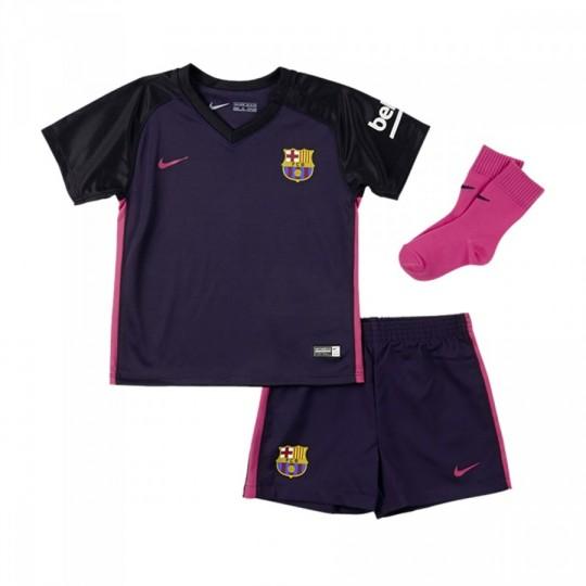 Conjunto  Nike FC Barcelona Away 2016-2017 Bebé Purple dynasty-Black-Vivid pink