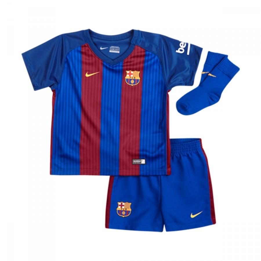 5fc0f11ad61c7 Kit Nike Jr FC Barcelona Home 2016-2017 Bebé Sport royal-Gym red ...