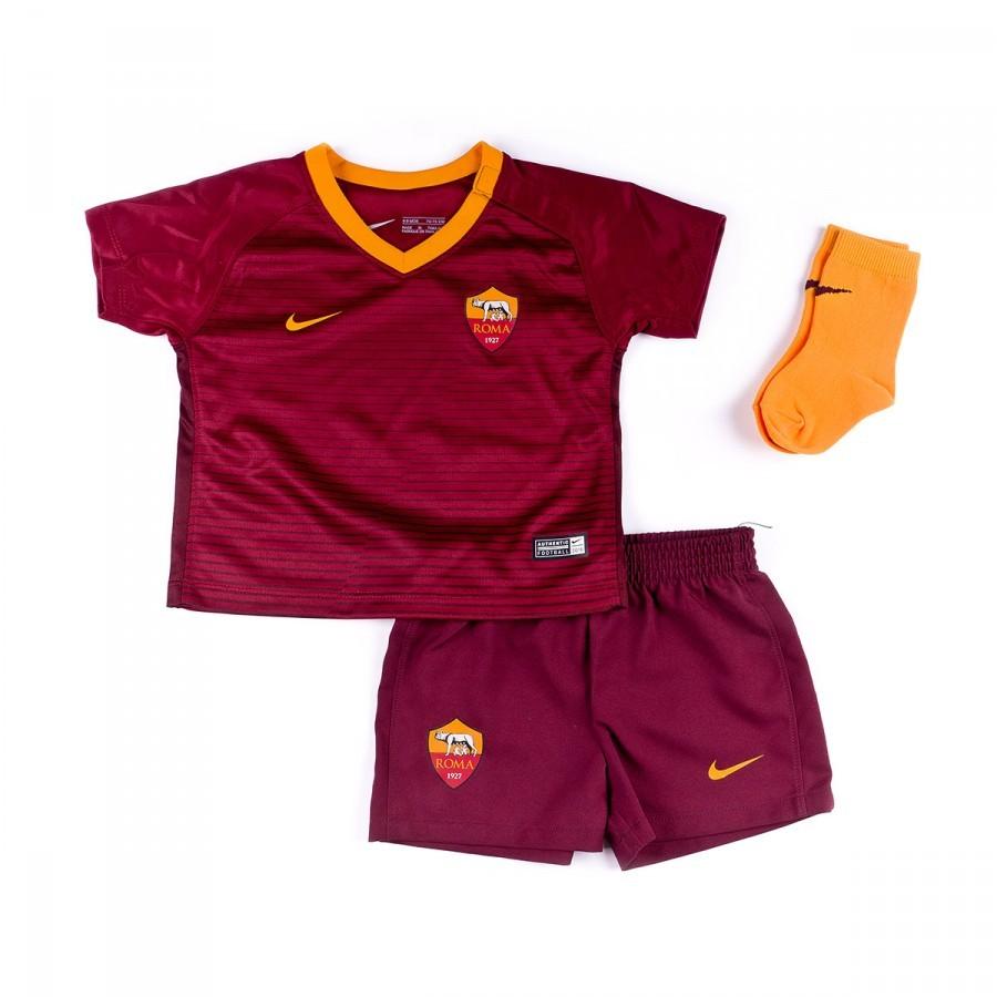 e6b3ac1b3117d Kit Nike Jr AS Roma Home 2016-2017 Bebé Team red-Night maroon ...