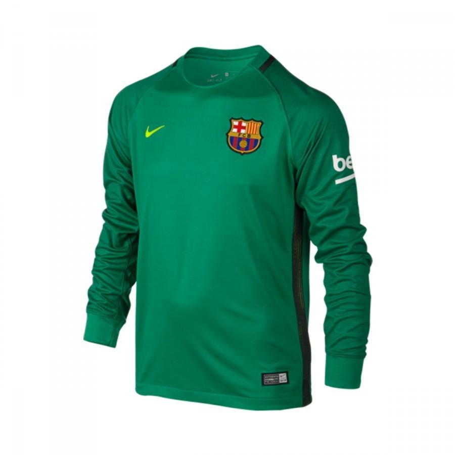 0b1db963c0cf1 Camiseta Nike FC Barcelona Segunda Equipación Stadium Top Portero 2016-2017  Niño Lucid green-Volt - Tienda de fútbol Fútbol Emotion
