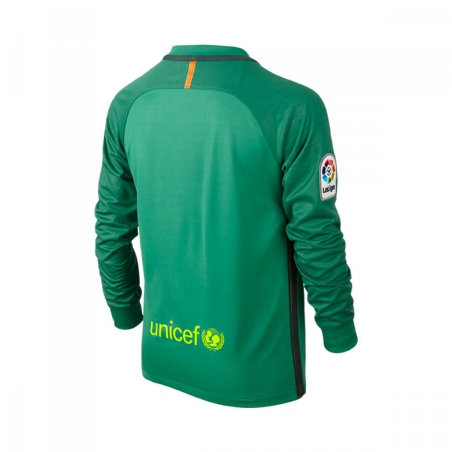 a89be6cdd7e27 Camiseta Nike FC Barcelona Segunda Equipación Stadium Top Portero 2016-2017  Niño Lucid green-Volt - Tienda de fútbol Fútbol Emotion