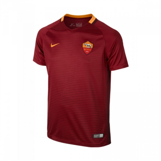 Camiseta  Nike jr AS Roma Stadium Home 2016-2017 Team red-Night maroon-Kumquat