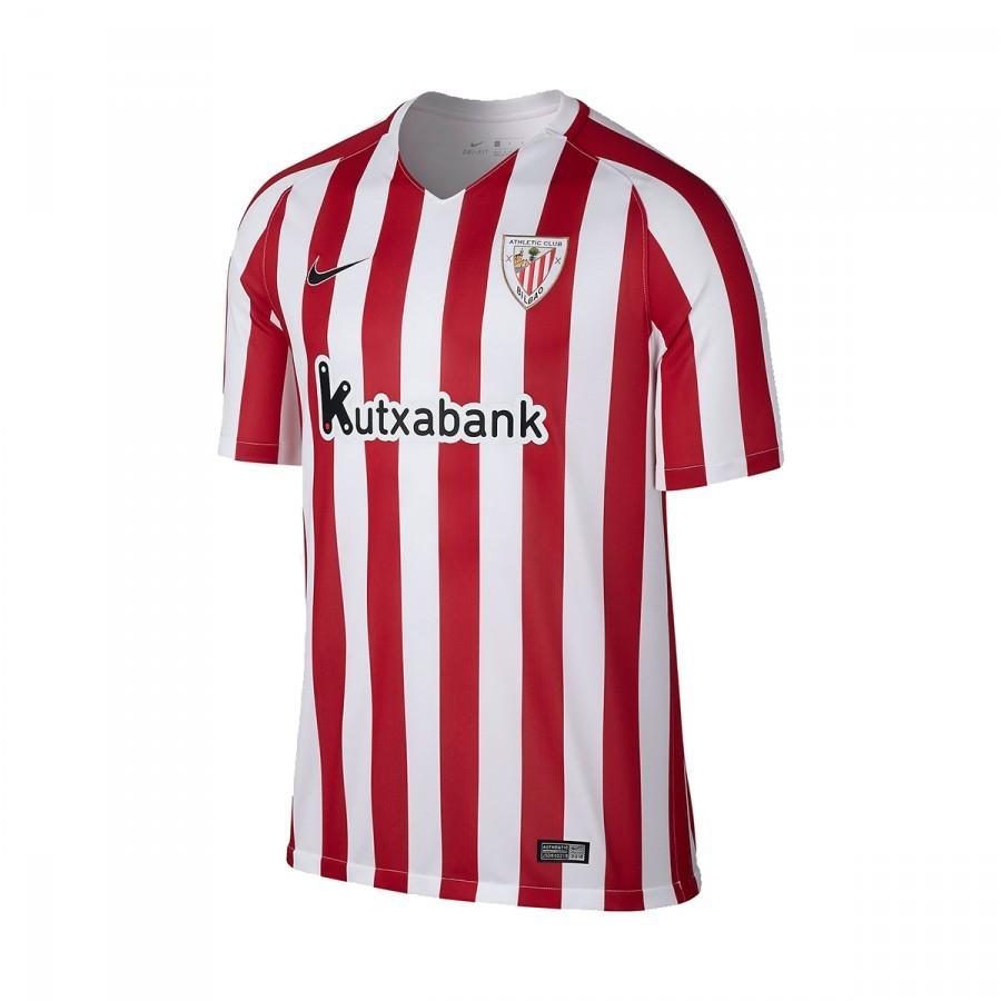 56f907deb0f9b Camiseta Nike AC Bilbao Primera Equipación 2016-2017 Niño University  red-White-Black - Tienda de fútbol Fútbol Emotion