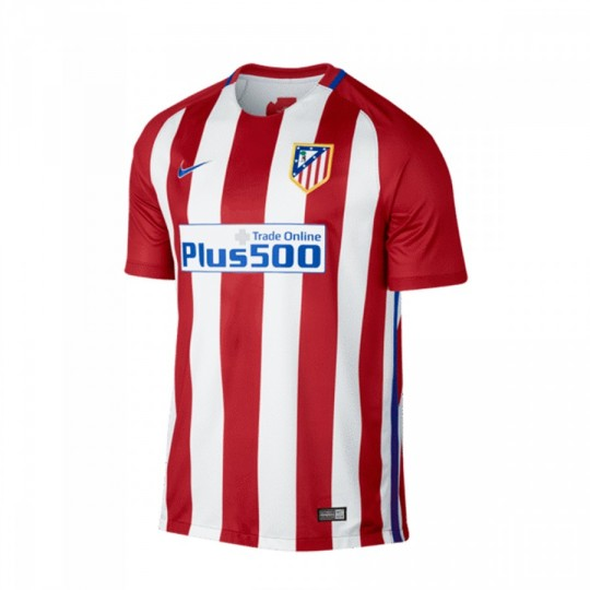 Camiseta  Nike jr Atlético de Madrid Stadium Home 2016-2017 Varsity red-White-Hyper cobalt
