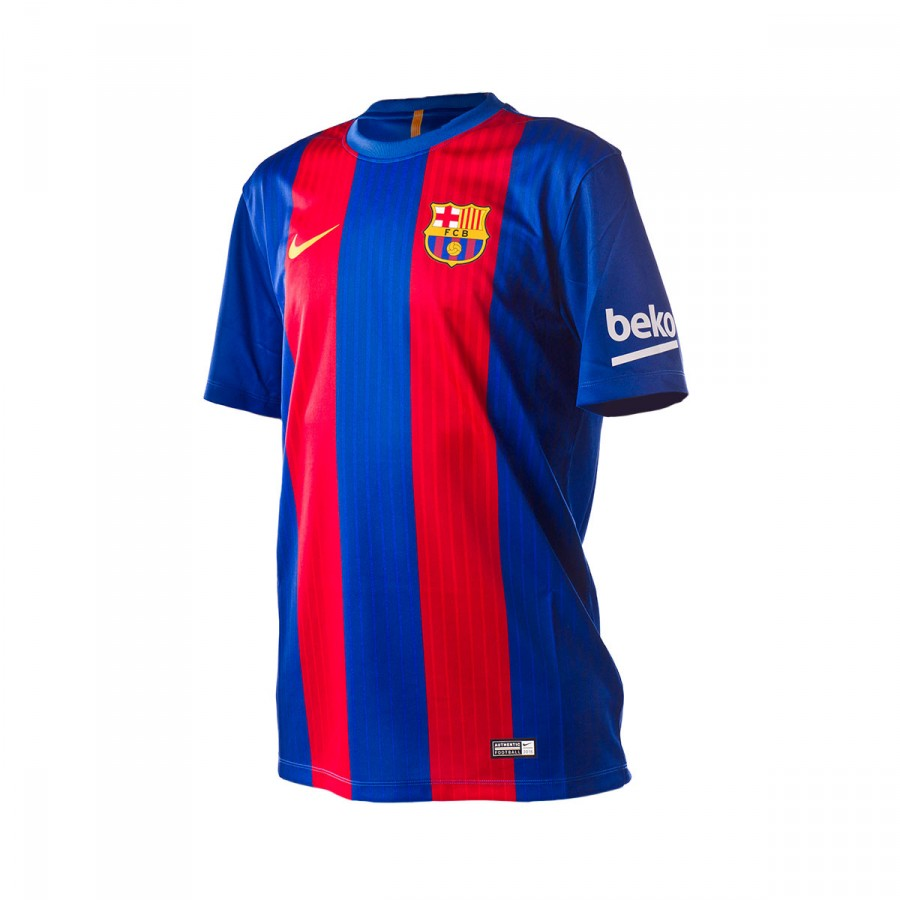 Fc Barcelona Official Website >> Jersey Nike FC Barcelona 2016-2017 Sport royal-Gym red-University gold - Football store Fútbol ...