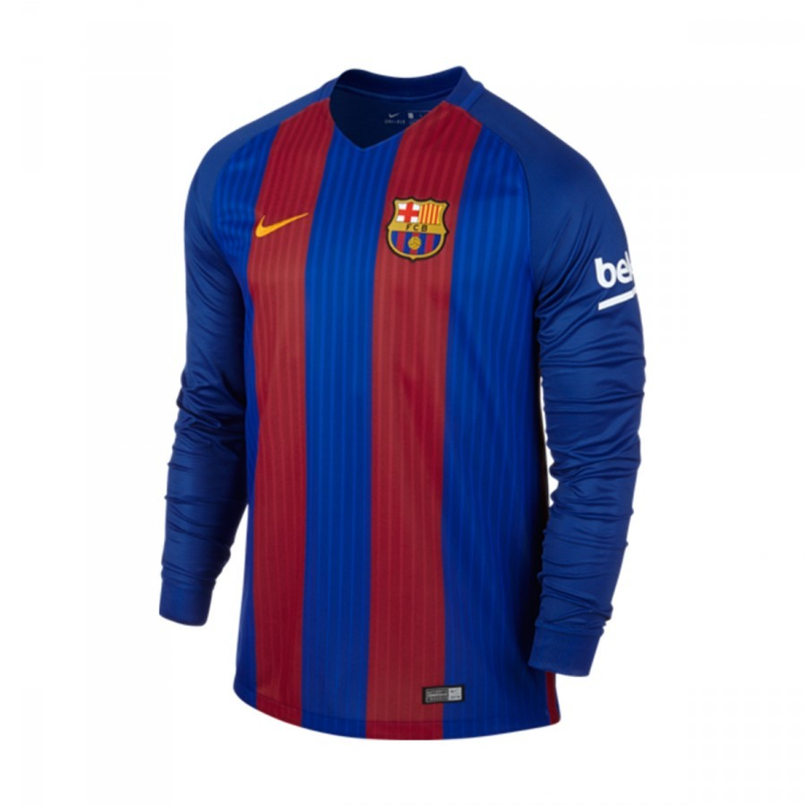 43436ebc92f50 Camiseta Nike FC Barcelona Primera Equipación Manga Larga Stadium 2016-2017  Sport royal-Gym red-University gold - Tienda de fútbol Fútbol Emotion
