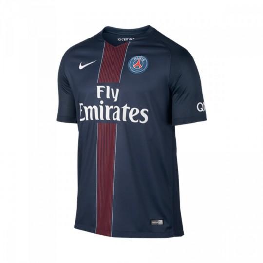 Camiseta  Nike Paris Saint-Germain Stadium Top Home 2016-2017 Midnight navy-Black-Challenge red-White