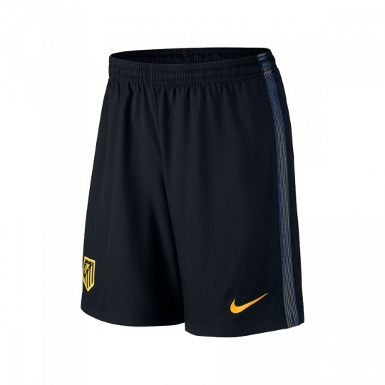 Pantalón corto  Nike Atlético de Madrid Stadium Away 2016-2017 Black-Varsity maize