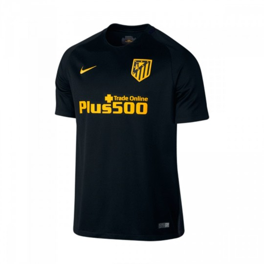 Camiseta  Nike Atlético de Madrid Stadium Away 2016-2017 Black-Varsity maize