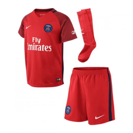 Conjunto  Nike jr Paris Saint-Germain Kit Challenge red-Team red-White