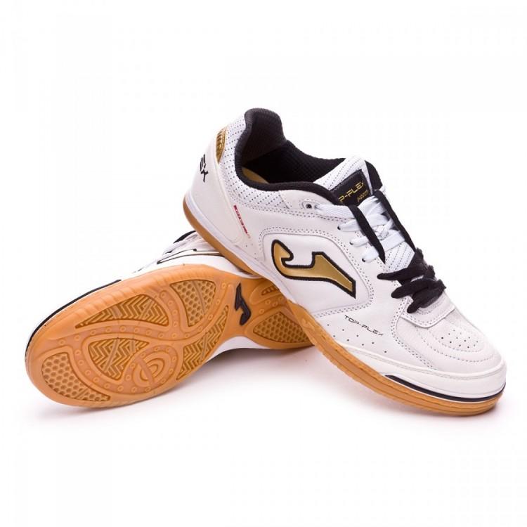 Futsal Boot Joma Top Flex White-Black - Football store Fútbol Emotion ca40b98517231