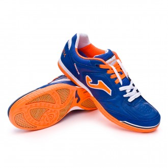 Zapatilla de fútbol sala  Joma Top Flex Azul-Naranja