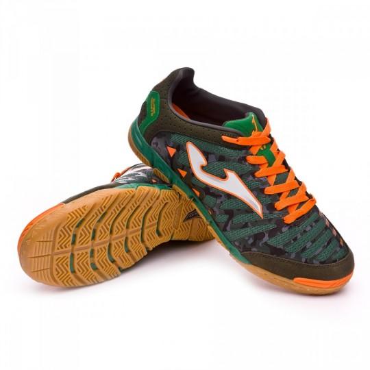 Chaussure de futsal  Joma Super Regate Verde Camuflaje-Orange