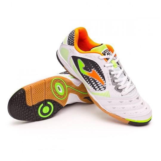 Chaussure de futsal  Joma Liga 5 Blanc-Vert