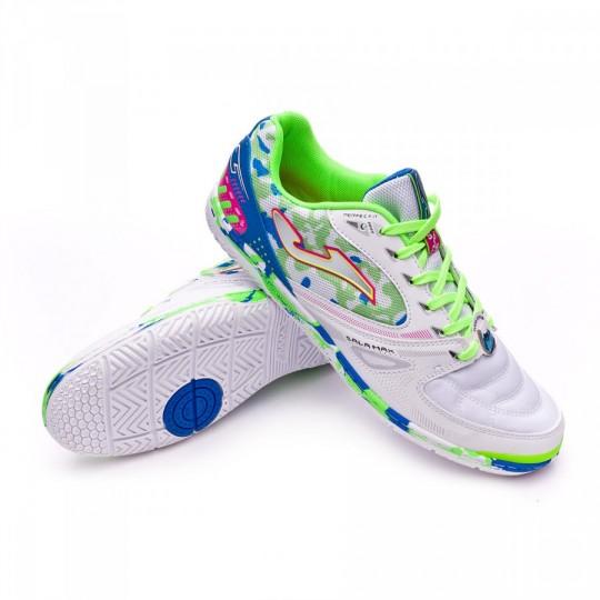 Chaussure de futsal  Joma Sala Max Blanc-Vert-Bleu
