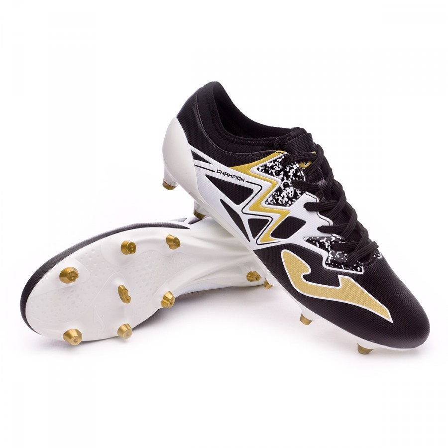 7169734dd78 Football Boots Joma Champion Max FG Black-White-Golden - Football ...