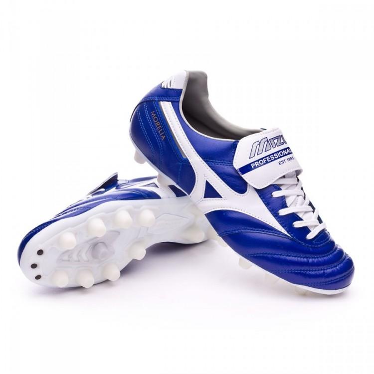 e371e89fa2558 Zapatos de fútbol Mizuno Morelia II MD Blue-White - Tienda de fútbol ...