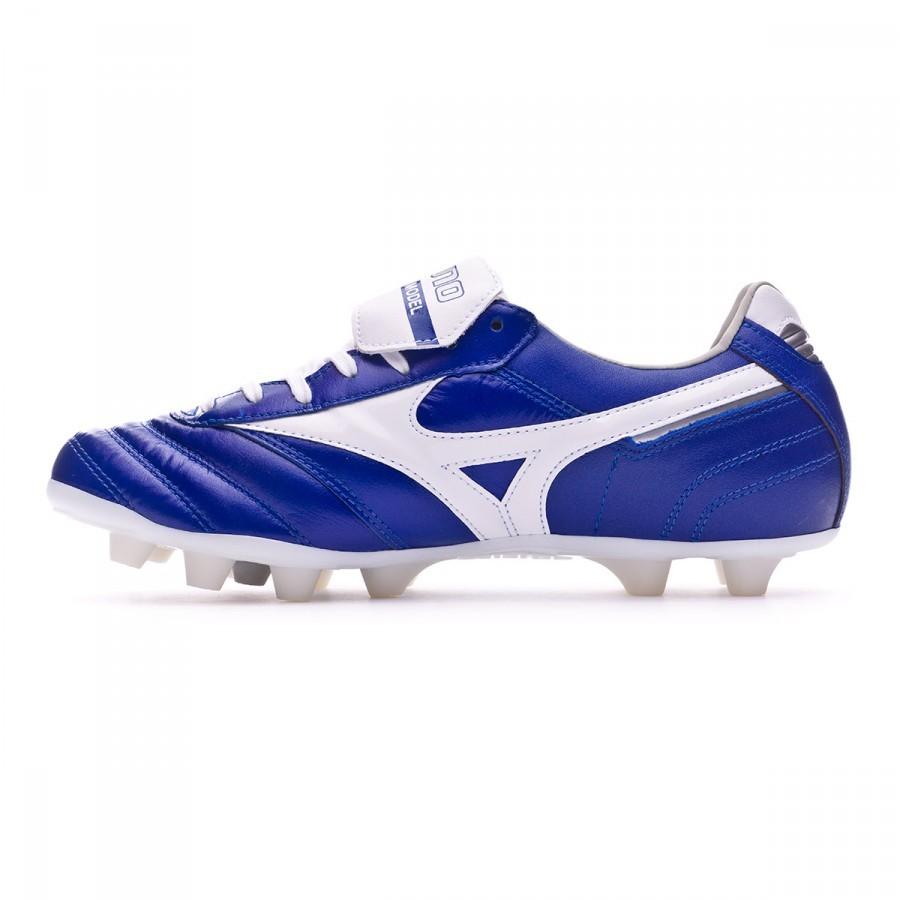 671426cf6c967 Zapatos de fútbol Mizuno Morelia II MD Blue-White - Tienda de fútbol Fútbol  Emotion