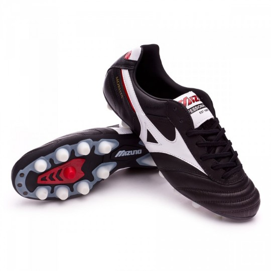 Chuteira  Mizuno Morelia II MD Black-White-Red