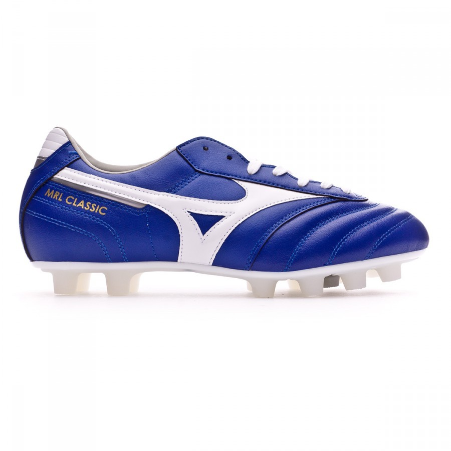 6b3065a4361d Football Boots Mizuno Morelia Classic MD Blue-White - Football store Fútbol  Emotion