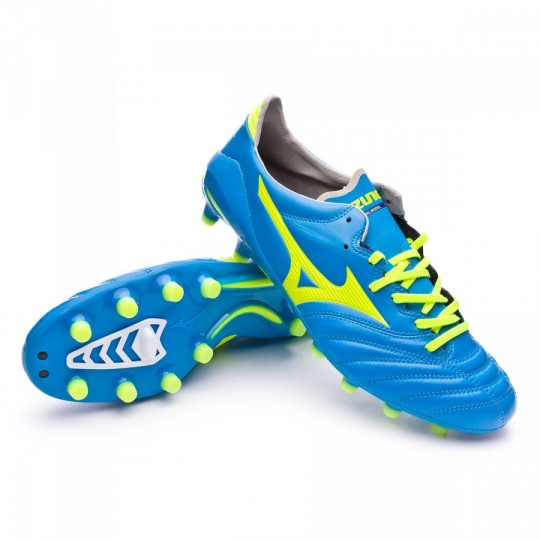 Chuteira  Mizuno Morelia Neo II MD Diva blue-Safety yellow