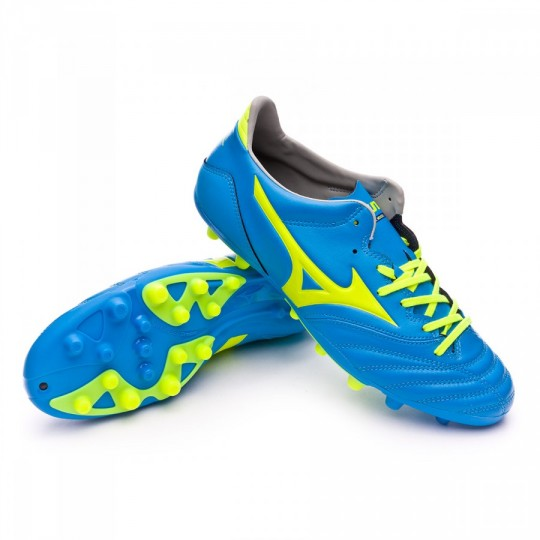 Chuteira  Mizuno Morelia Neo KL AG Diva blue-Safety yellow