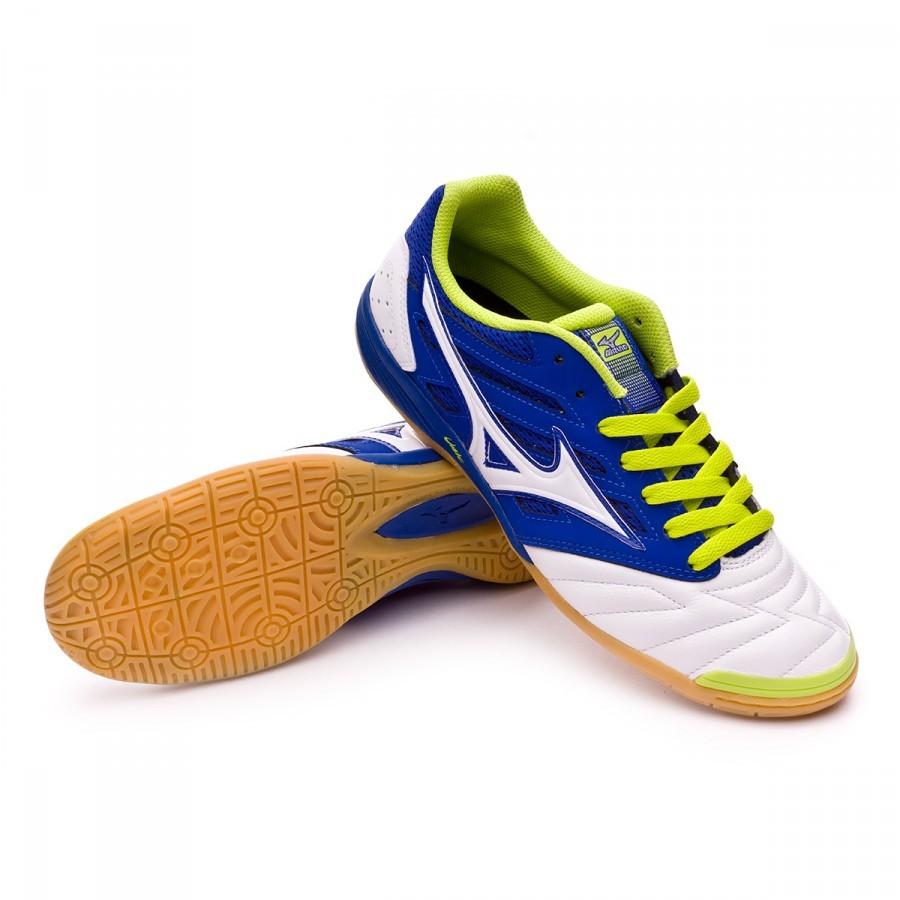 Chaussure de futsal Mizuno Premium 2 IN Surf blue-White - Leaked soccer d3eb2bbfae