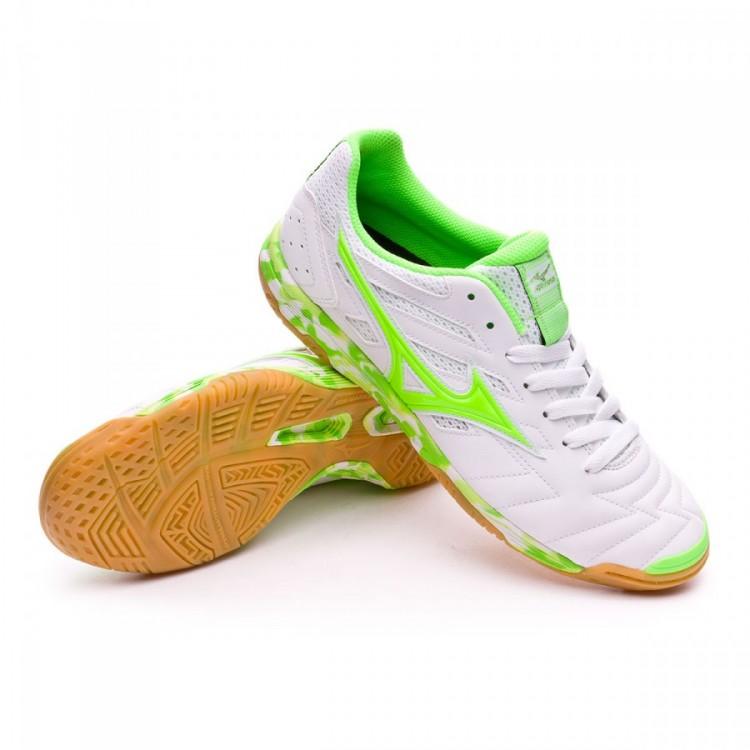 8cb08e916f2fd Zapatilla Mizuno Classic 2 IN White-Green gecko - Tienda de fútbol ...