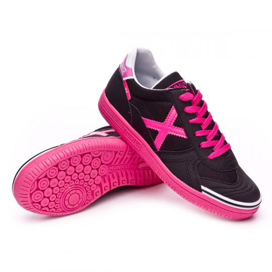 Boot  Munich jr G-3 Black-Fuchsia