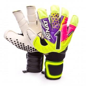 Glove  Rinat Asimetrik 2.0 Pro Amarillo neón-Purple-Pink-Black