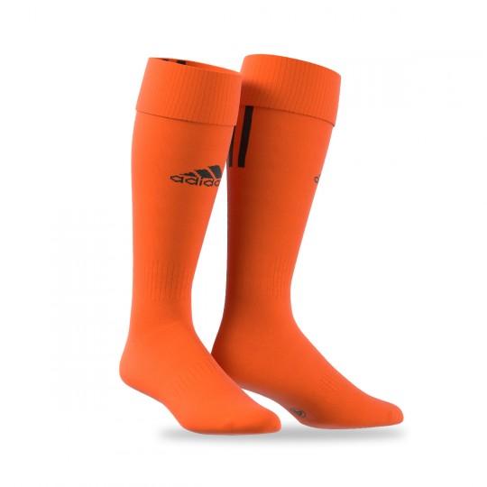 Medias  adidas Santos 3 Stripe Naranja-Negra