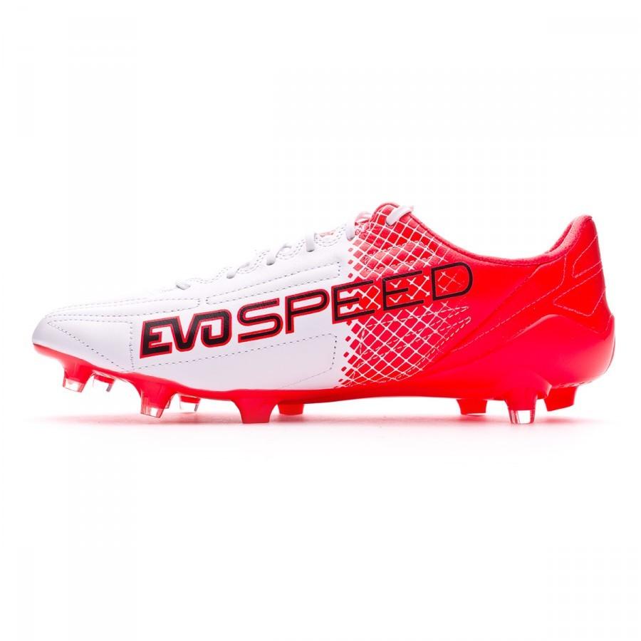 14e4d90732f Football Boots Puma EvoSpeed SL II Leather FG Black-White-Red blast -  Football store Fútbol Emotion
