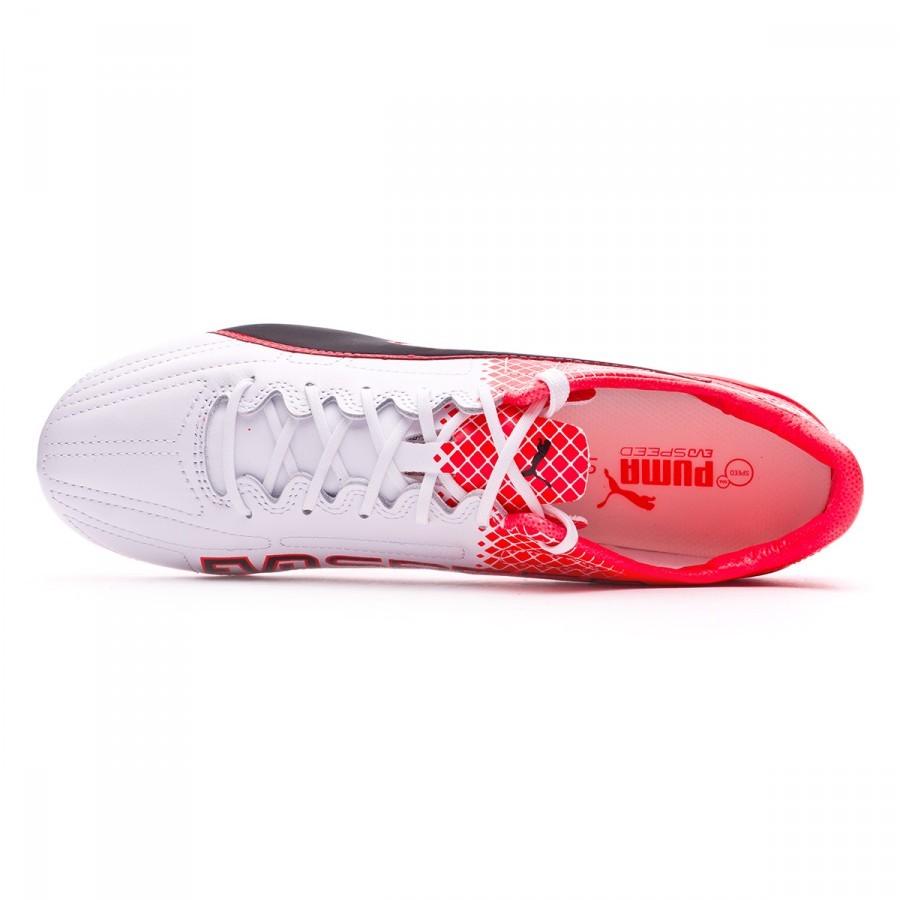 434e7672af5 Football Boots Puma EvoSpeed SL II Leather FG Black-White-Red blast -  Football store Fútbol Emotion